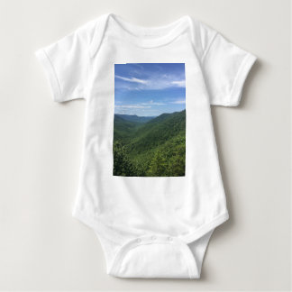 A mountain view baby bodysuit