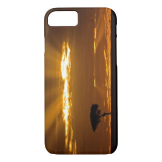 A mouth openning sunrise in the Maasai Mara iPhone 7 Case