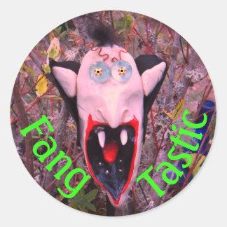 a Mr. Fang Tastic halloween sticker