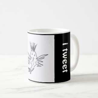 "a mug for the bird lover, ""TWEET!"""