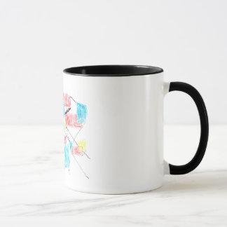 A mug with Frank art