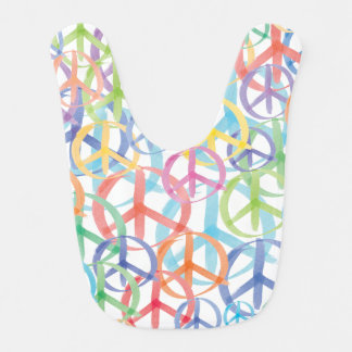 A Multitude of Peace Signs Bib