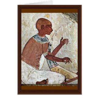 A Mural Of A Blind Musician Playing A Harp From Th Card