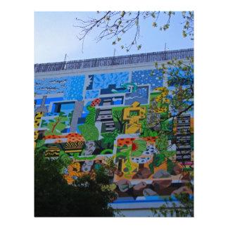 A Mural on the San Antonio Riverwalk Letterhead Template
