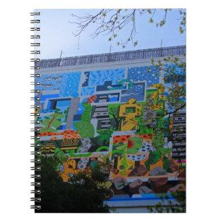 A Mural on the San Antonio Riverwalk Spiral Notebook