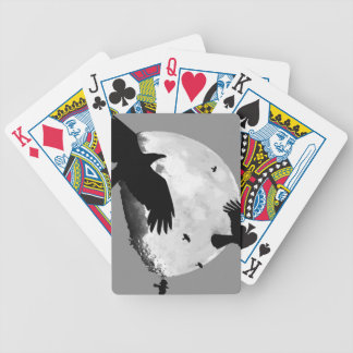A Murder Of Crows And Moon Bicycle Playing Cards