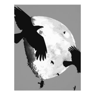 A Murder Of Crows And Moon Letterhead