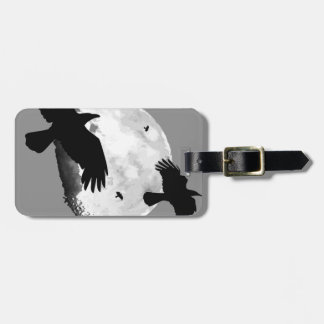 A Murder Of Crows And Moon Luggage Tag