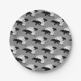 A Murder Of Crows And Moon Paper Plate