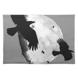 A Murder Of Crows And Moon Placemat