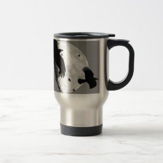 A Murder Of Crows And Moon Travel Mug