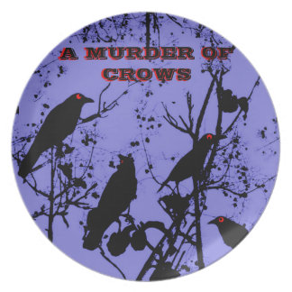 A MURDER OF CROWS PLATE