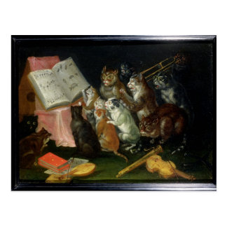 A Musical Gathering of Cats Postcard