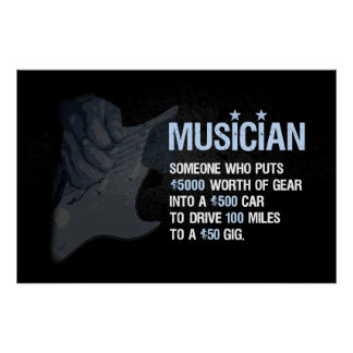 A Musician is Posters