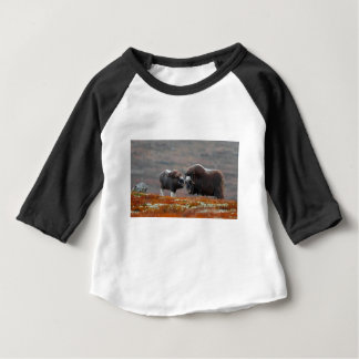 A Musk Ox and Calf Baby T-Shirt