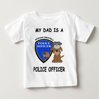 A My Police Dad Baby T-Shirt