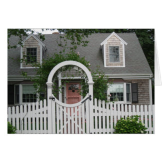 """A Nantucket Cottage"" Card"