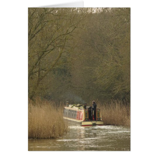 A Narrowboat on the Oxford Canal. Card