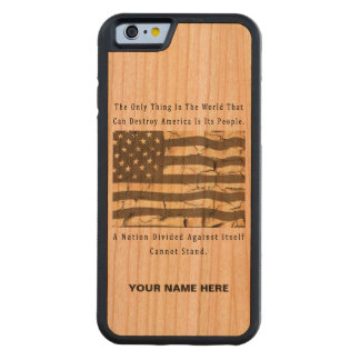A Nation Divided Carved Cherry iPhone 6 Bumper Case