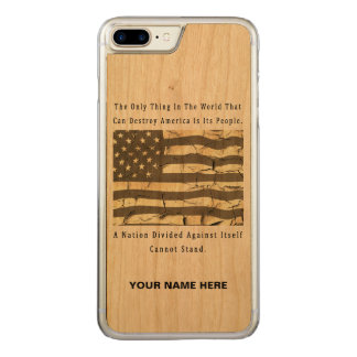 A Nation Divided Carved iPhone 8 Plus/7 Plus Case