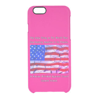 A Nation Divided Clear iPhone 6/6S Case