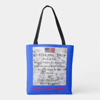 A Nation Divided-GOD BLESS AMERICA in Red Letters Tote Bag