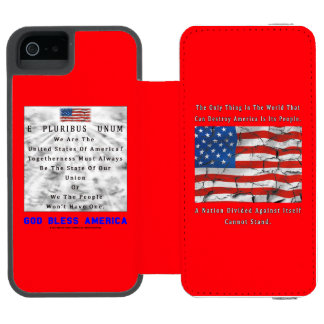 A Nation Divided - GOD BLESS AMERICA Incipio Watson™ iPhone 5 Wallet Case