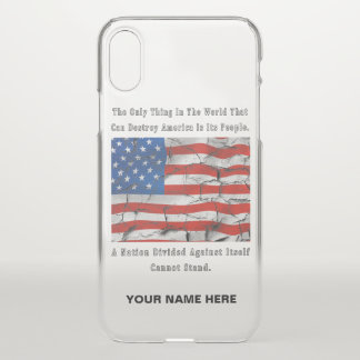 A Nation Divided  (Outlined Words) iPhone X Case