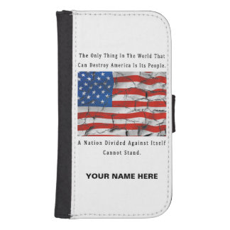 A Nation Divided Samsung S4 Wallet Case