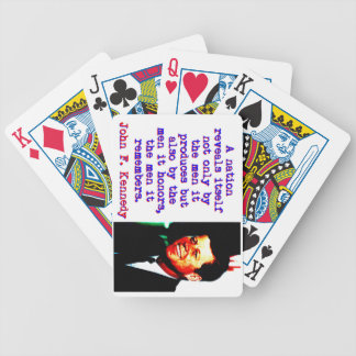 A Nation Reveals Itself - John Kennedy Bicycle Playing Cards