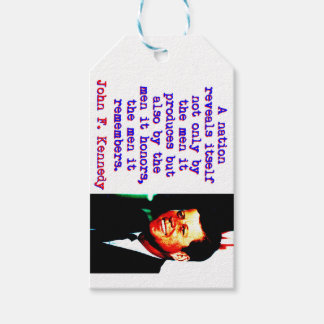 A Nation Reveals Itself - John Kennedy Gift Tags