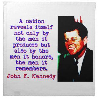 A Nation Reveals Itself - John Kennedy Napkin