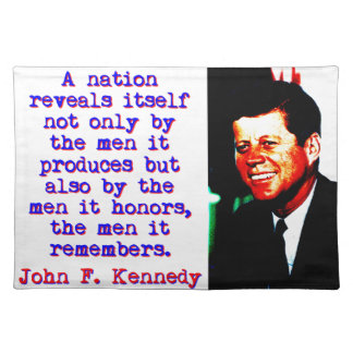 A Nation Reveals Itself - John Kennedy Placemat