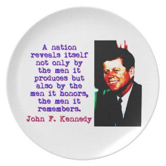 A Nation Reveals Itself - John Kennedy Plate