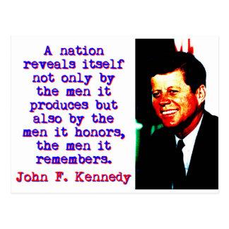 A Nation Reveals Itself - John Kennedy Postcard