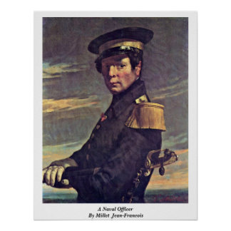 A Naval Officer By Millet (Ii) Jean-Francois Poster