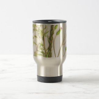 A neat scanned image of flowers mug
