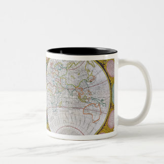 A New and Correct Map of the World, 1770-97 Two-Tone Coffee Mug