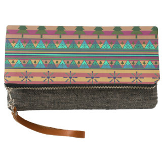 A new Christmas pattern Clutch
