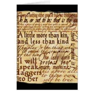 A New Drama - Hamlet Greeting Card