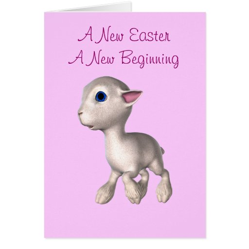 A New Easter, A New Beginning Greeting Card
