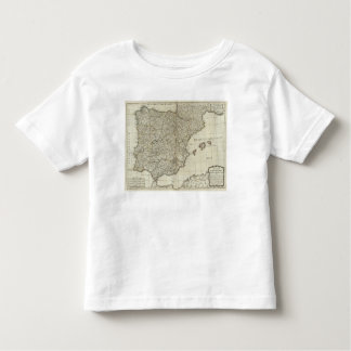 A new map of the Kingdoms of Spain and Portugal Toddler T-shirt
