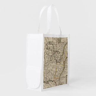 A new map of ye north parts of America Grocery Bag