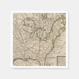 A new map of ye north parts of America Paper Napkins
