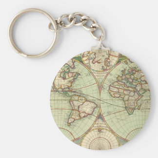 A new mapp of the world - Atlas Basic Round Button Keychain