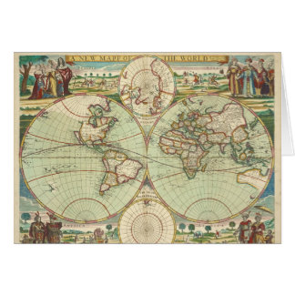 A new mapp of the world - Atlas Card