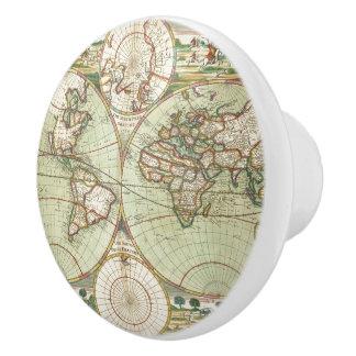 A new mapp of the world - Atlas Ceramic Knob