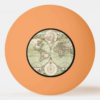 A new mapp of the world - Atlas Ping Pong Ball