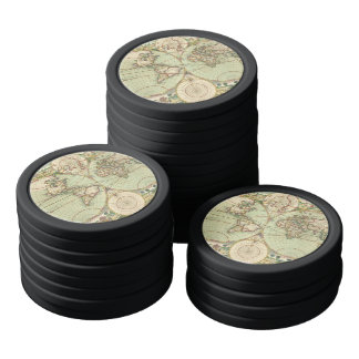 A new mapp of the world - Atlas Poker Chips