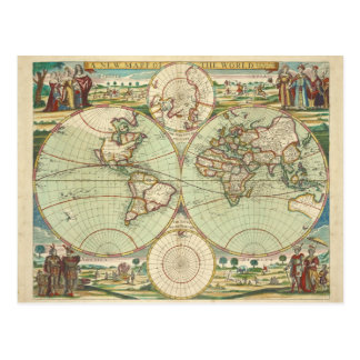 A new mapp of the world - Atlas Postcard